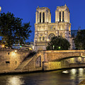 Notre Dame Cathedral Evening by Jemmy Archer