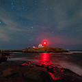 Nubble At Night by Rod Best