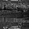 Nubble Lighthouse Reflection Bw by Susan Candelario