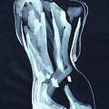 Nude Woman Model Gesture Watercolor Xxxvii by Irina Sztukowski