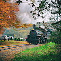 Number 40 Coming Through The Fall Colors by Jeff Folger