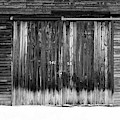 Numbers On An Old Barn Door Windsor Vermont by Edward Fielding