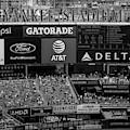 Ny Yankee Stadium Bw by Susan Candelario