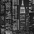 Nyc Empire State And Vessel Bw by Susan Candelario
