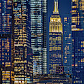 Nyc Empire State And Vessel by Susan Candelario