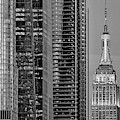 Nyc Empire State Building  Bw by Susan Candelario