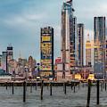 Nyc Esb Skyline Hudson Yards  by Susan Candelario