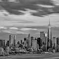 Nyc World Trade Center Wtc Bw by Susan Candelario