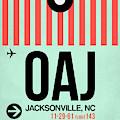 Oaj Jacksonville Luggage Tag I by Naxart Studio