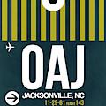 Oaj Oaj Jacksonville Luggage Tag I Luggage Tag I by Naxart Studio