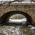 Oak Creek Mill Pond Waterfall by Randy Scherkenbach