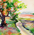 Oak Tree Landscape Path Home  by Ginette Callaway