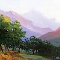 Oaks In The Mountains Of Carrara by Ge Nikolai