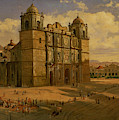 Oaxaca Cathedral by Jose Maria Velasco Gomez