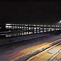 Oceanside Pier At Night  by Tammera Malicki-Wong