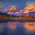 Sunrise At Oxbow Bend by Chris Steele