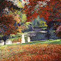 October Reflects In The Lake by David Lloyd Glover
