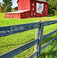 Ohio Bicentennial Red Barn Landscape - Columbus - Westerville Ohio by Gregory Ballos