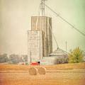 Ohio Farm Rolls Of Hay by Dan Sproul