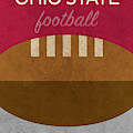 Ohio State Football Minimalist Retro Sports Poster Series 003 by Design Turnpike