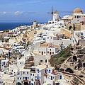 Oia Village And Aegean Sea by Ed Norton