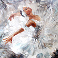Oil Painting, Girl Ballerina. Drawn by Maria Bo