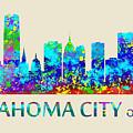 Oklahoma City Watercolor by David Millenheft
