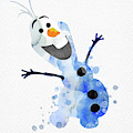 Olaf Watercolor by Mihaela Pater