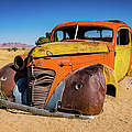 Old And Abandoned Car In Solitaire, Namibia by Lyl Dil Creations