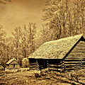 Old Appalachian Log Barn by Paul W Faust - Impressions of Light