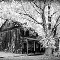 Old Black And White Infrared Farm House by Paul W Faust - Impressions of Light