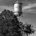 Old Bourbon Monochrome Water Tower - Missouri Route 66 1x1 by Gregory Ballos