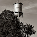Old Bourbon Water Tower - Sepia Missouri Route 66 1x1 by Gregory Ballos