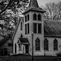 Old Church - Bw by James L Bartlett
