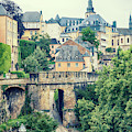old city Luxembourg from above by Ariadna De Raadt