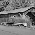 Old Cold River Covered Bridge Black And White by Adam Jewell