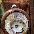 Old Dodge Truck Headlight by Teri Virbickis