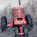 Old Farmall Farm Tractor Color Separation Nh by Edward Fielding