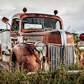 Old Fire Truck In The Mountains by Lynn Sprowl