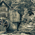 Old Glade Creek Mill Sepia by Gregory Ballos