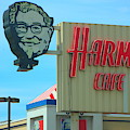 Old Harman Cafe Sign by Colleen Cornelius