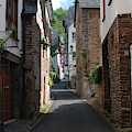 old historic street in Ediger Germany by Victor Lord Denovan