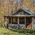 Old Hunting Shack In The Woods by Edward Fielding