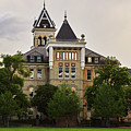 Old Main, Utah State University, East Lawn, Logan Utah, Stormy S by TL Mair