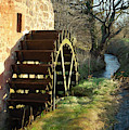 old mill wheel and stream at Preston Mill, East Linton by Victor Lord Denovan