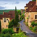 Old Pilgrims Road Leading Through The by Barbara Van Zanten