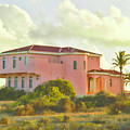 Old Pink Villa In The Tropics by Ola Allen
