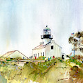 Old Point Loma Light by P Anthony Visco