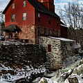 Old Red Mill In Jericho Vermont by Jeff Folger
