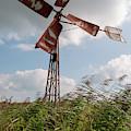 Old Rusty Windmill. by Anjo Ten Kate